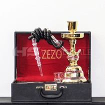 Zezo Gold Stripes Glass Hookah (MSRP $109.99)