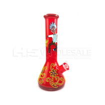 "13"" 7mm Hand Painted Water Pipe (MSRP $75.00)"