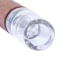"""RYOT 3"""" 9mm Wood Taster With Glass Tip - Walnut (MSRP $20.00)"""