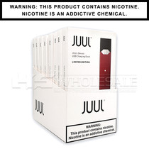 JUUL Basic Kit | Maroon | Limited Edition | Display of 8 (MSRP $49.99ea)