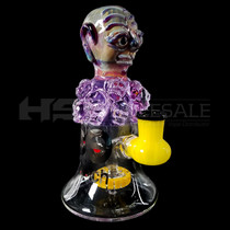 "Cheech Glass - 7.5"" Red Monster Rig Water Pipe (MSRP $187.50)"