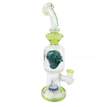 "Cheech Glass - 12"" Green Monster Rig Water Pipe (MSRP $200.00)"