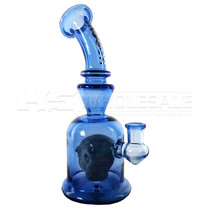 """Cheech Glass - 10"""" Blue Monster Rig Water Pipe (MSRP $175.00)"""