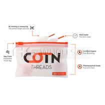 COTN Threads Pre-Cut Cotton Wicks Pack of 10 *Drop Ship* (MSRP $6.00 Each)