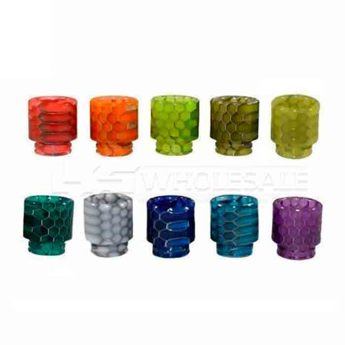 TFV12 / 810 Cobra Resin Drip Tip Assorted Colors Pack of 5 (MSRP $8.00ea)