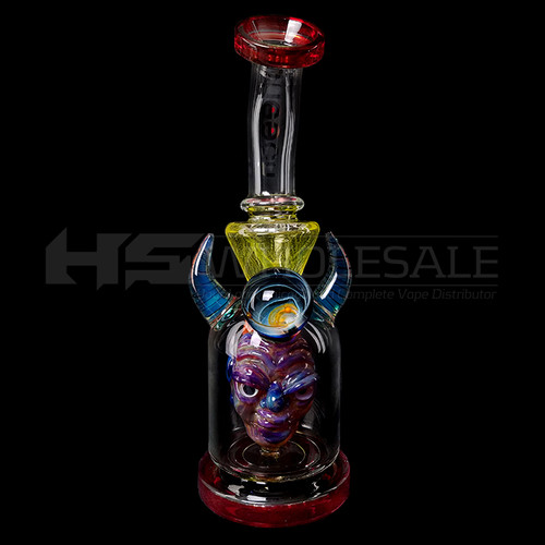 Cheech Glass - Color Monster Horn Rig Water Pipe (MSRP $200.00)