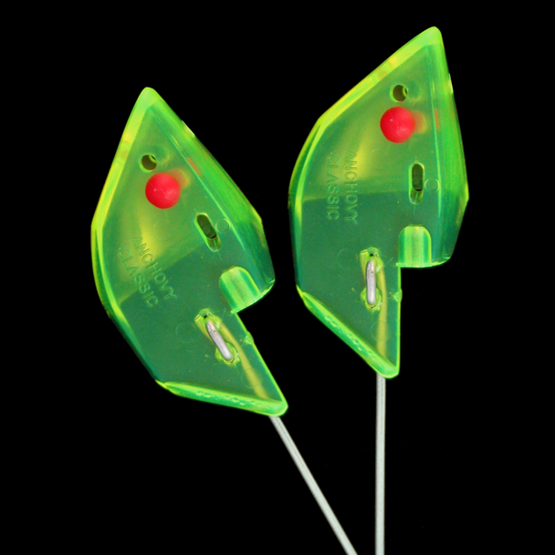 Anchovy Classic Bait Head - Chartreuse, Unrigged 2pk