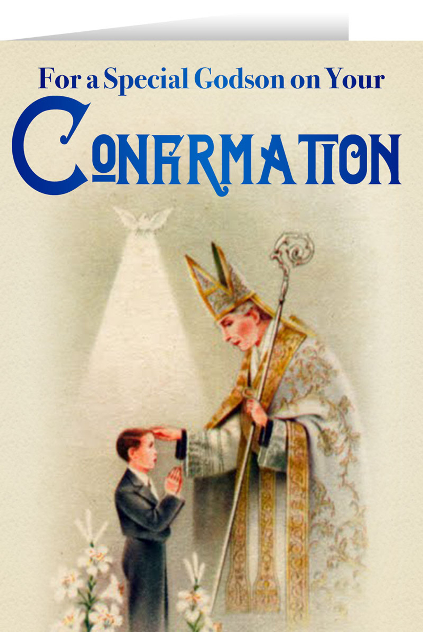 Godson\'s Confirmation Greeting Card - Nelson Fine Art & Gifts