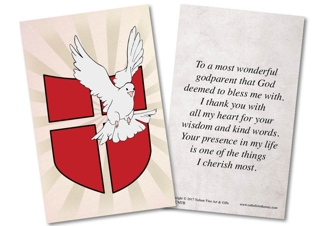 Occasions baptism baptism gifts baptism cards nelson fine dove with shield baptism holy card m4hsunfo