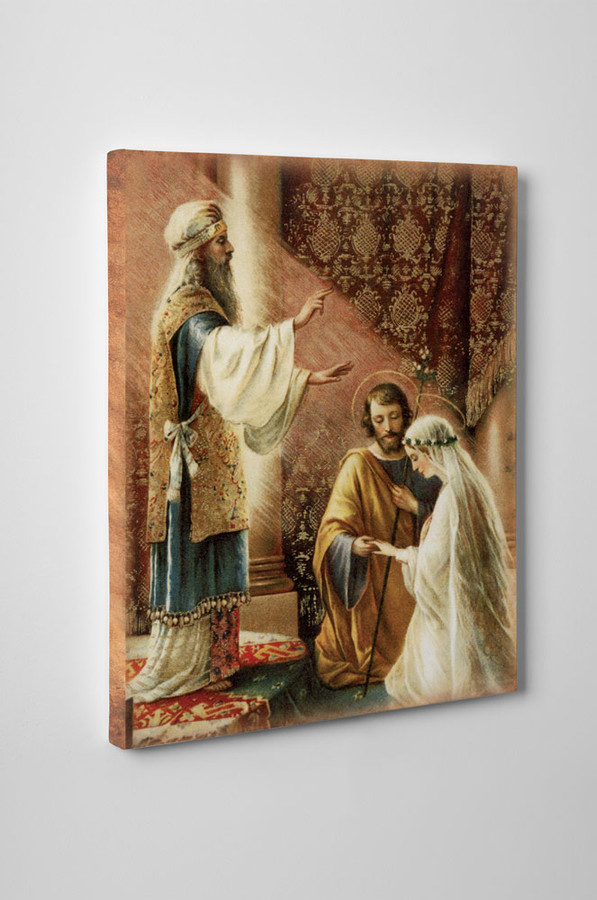 Wedding of Joseph & Mary Gallery Wrapped Canvas