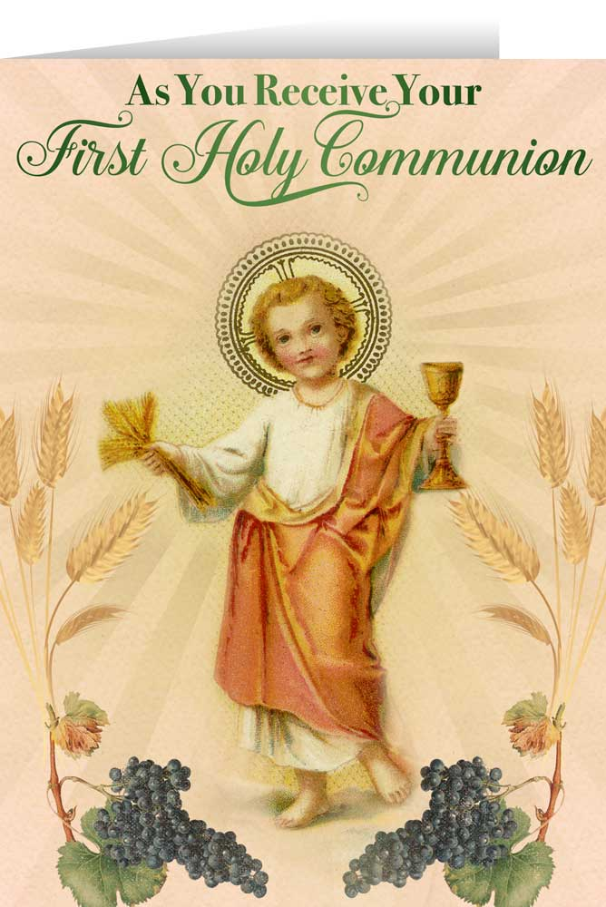 Christ child first communion greeting card nelson fine art gifts christ child first communion greeting card m4hsunfo