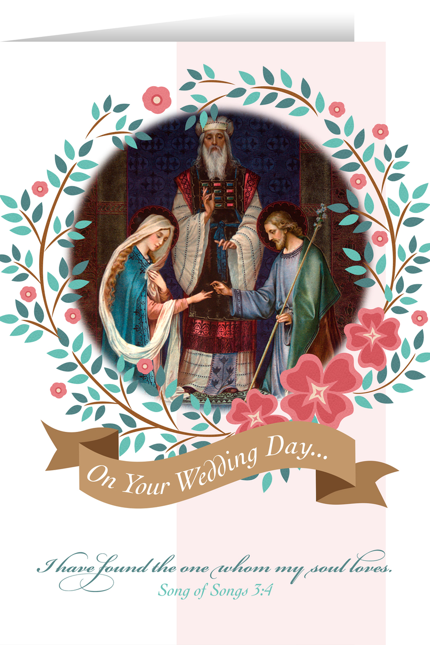 Marriage Of Joseph And Mary Wedding Greeting Card Nelson Fine Art