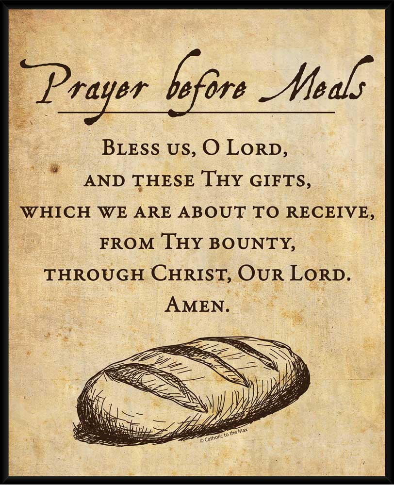 Prayer Before Meals Wall Plaque - Nelson Fine Art & Gifts