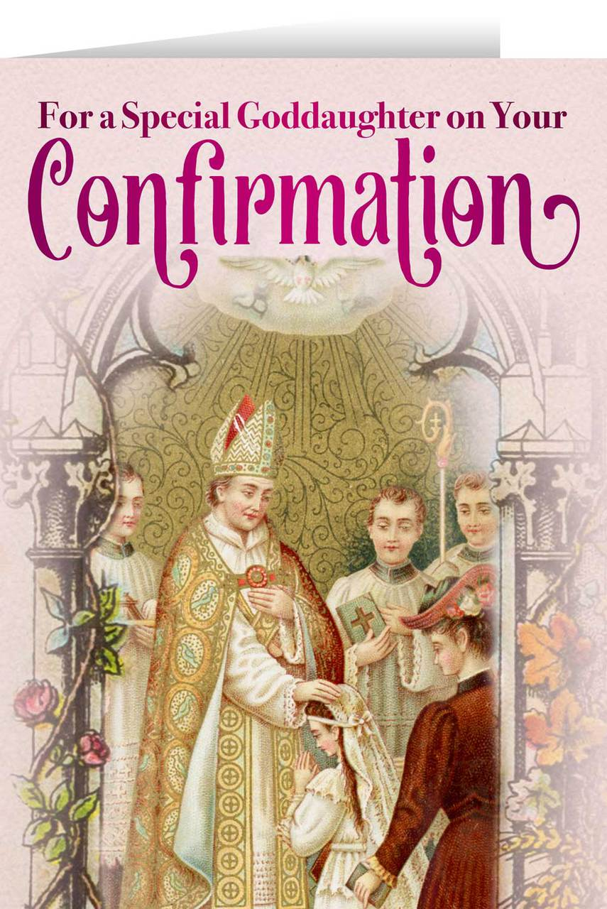 Goddaughters Confirmation Greeting Card Nelson Fine Art Gifts