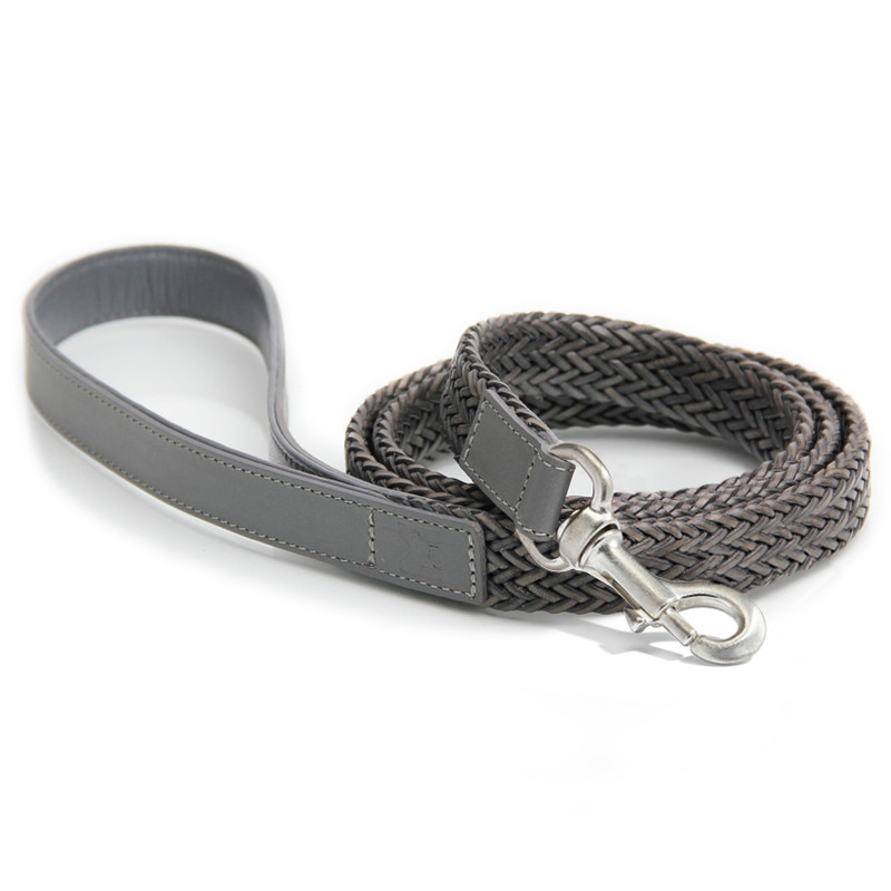 Dog Lead - Firenze Grey_Walk_www.hugoandotto.com