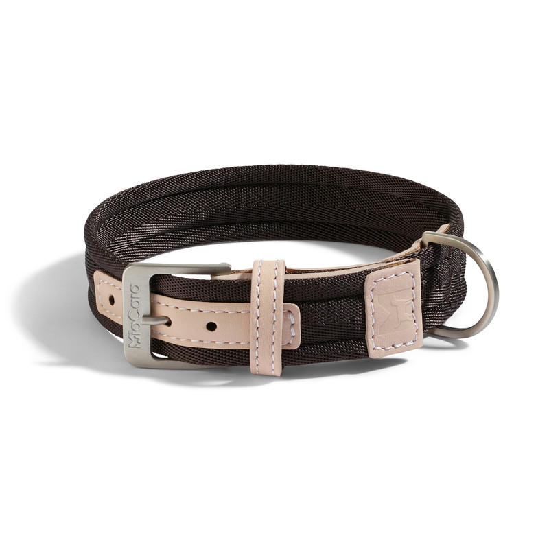 Dog Collar - Riva Chocolate / Nude_Walk_M/L_www.hugoandotto.com