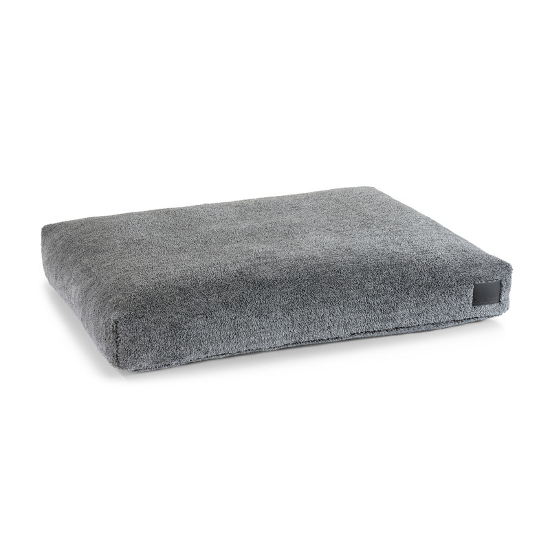 Dog Bed - Sherpa Dog Cushion Grey_Sleep_Large_www.hugoandotto.com