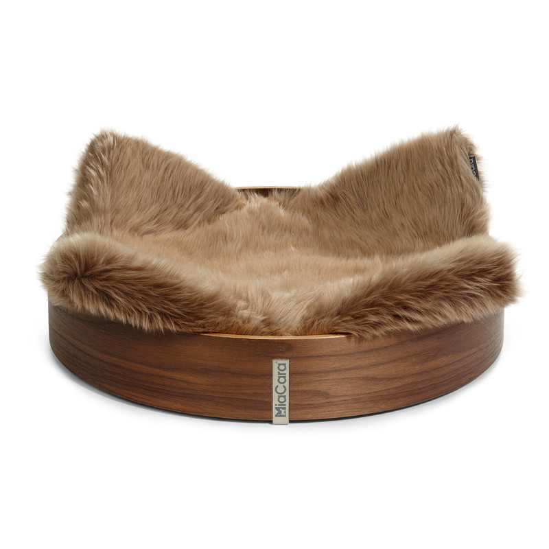Cat Basket - Anello Taupe Faux Fur_Cat Bed_Sleep_www.hugoandotto.com