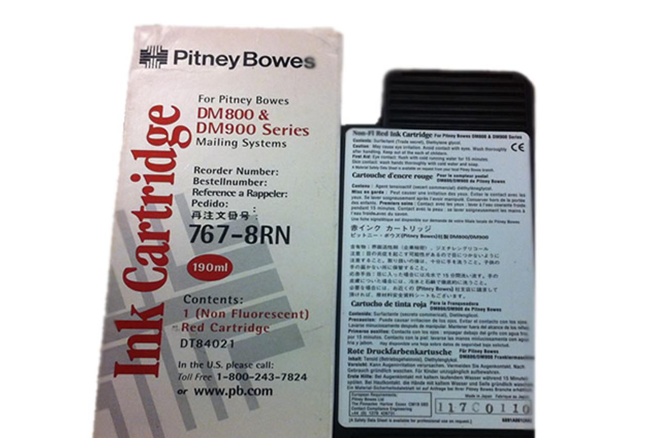 Original Pitney Bowes DM800-DM1000 Franking Ink Cartridge