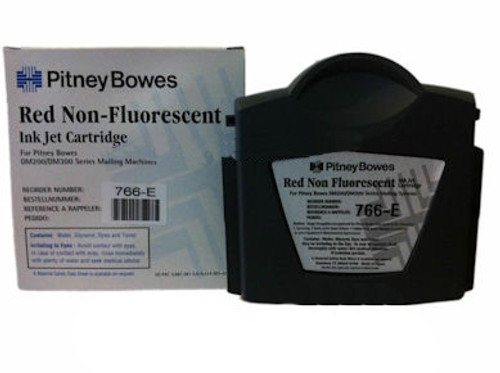 Original RED Pitney Bowes DM200 - DM300 766-E Ink Cartridge