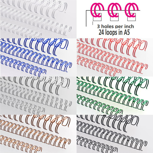 Renz A5 3:1 Wire / Book Binders All Sizes and Colours