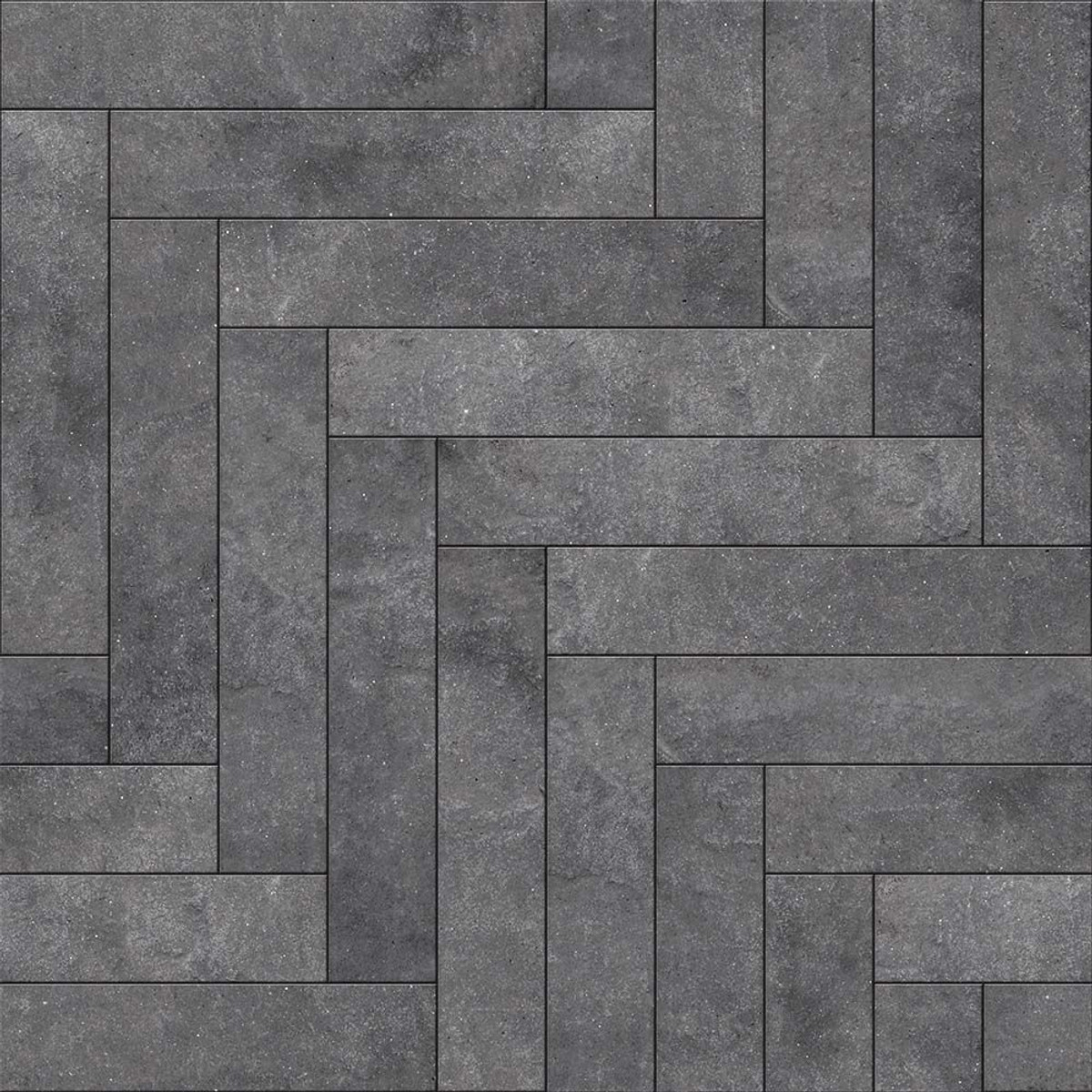 Perfection Floor Tile Natural Stone Chevron Blackstone