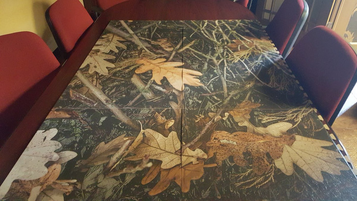 Perfection Floor Tile Custom Print Options, shown in camo