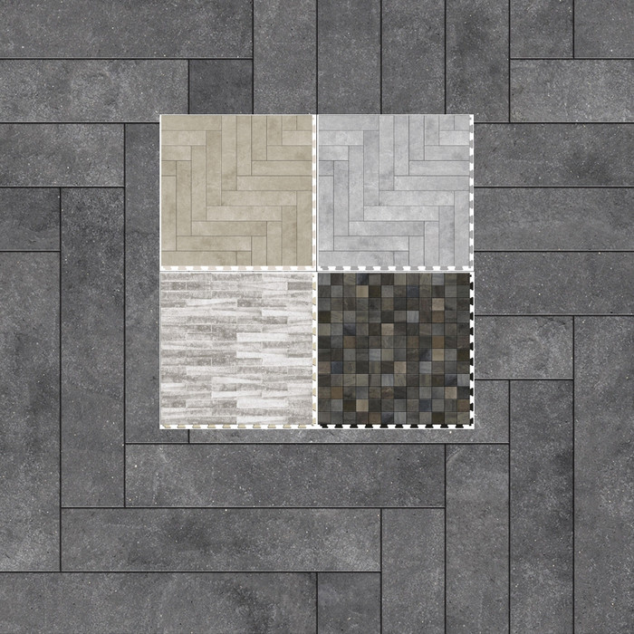 """Perfection Floor Natural Stone 20"""" x 20"""" x 5MM (6 Per CS) - Master Mosaic Collection"""