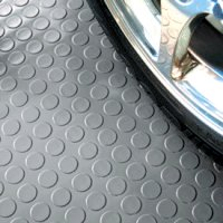 G-Floor Coin Pattern Rollout Floor Covering - Slate Grey