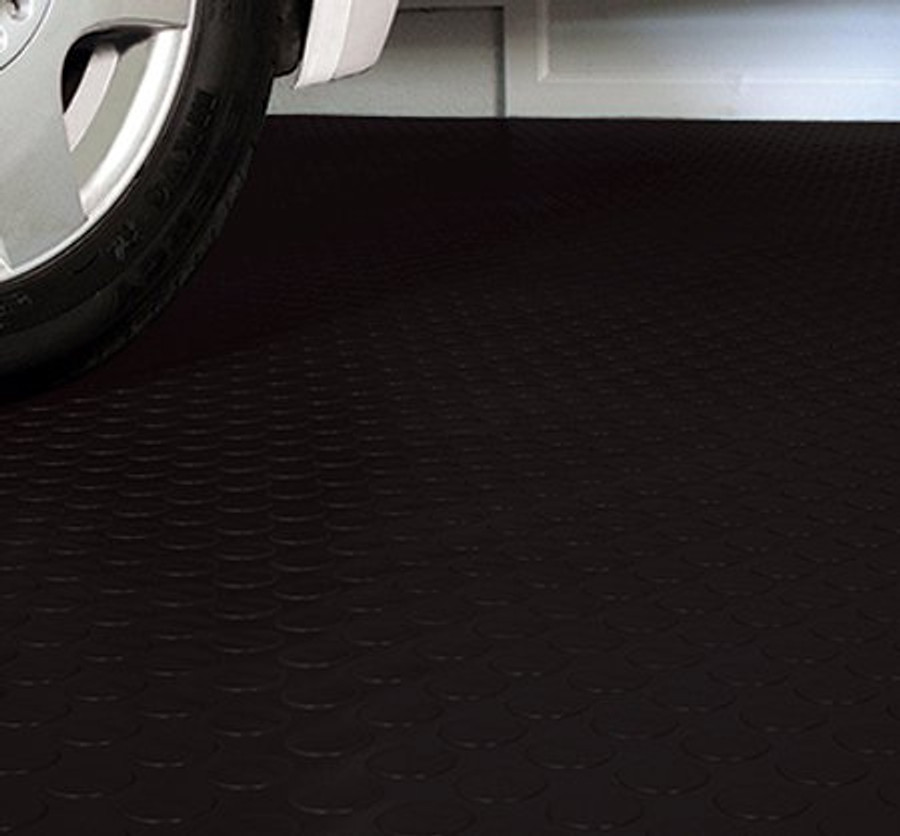G-Floor Coin Pattern Roll Out Floor Covering Midnight Black