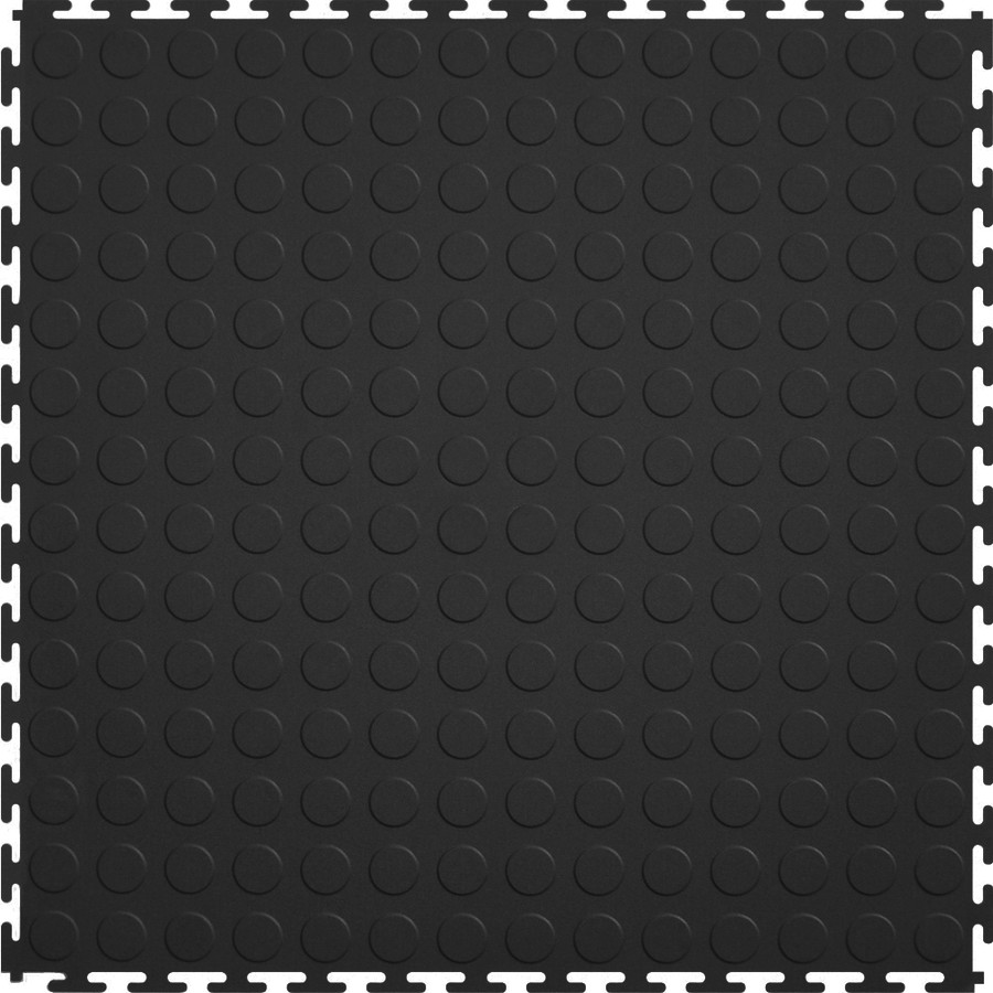 Perfection Floor Tile Industrial Black Coin 7MM