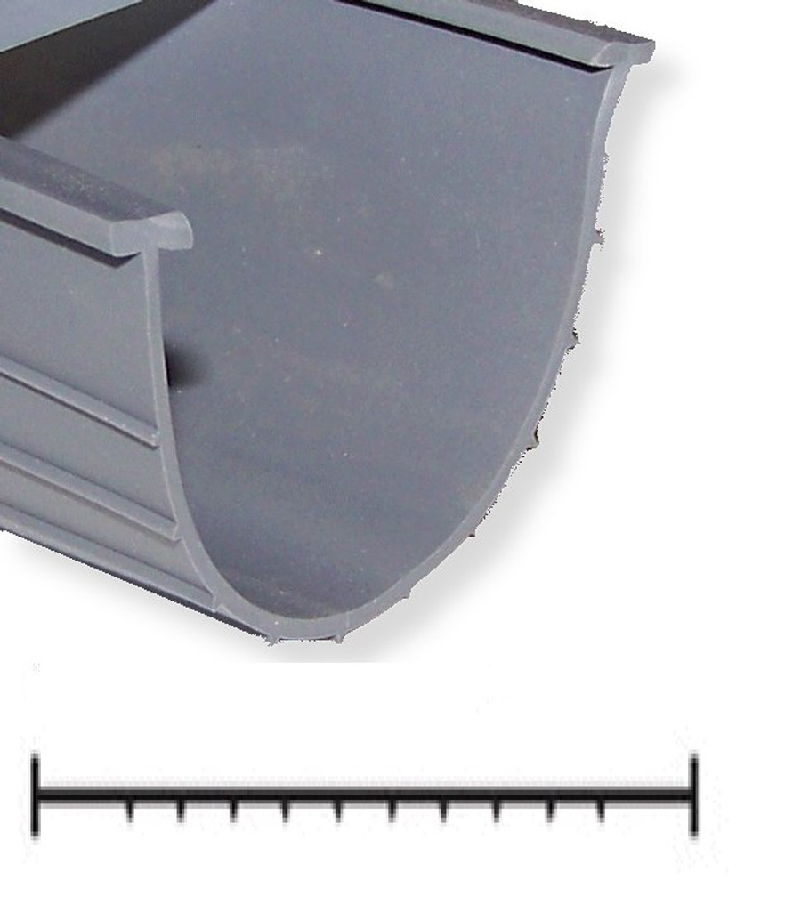 "Garage Door Bottom Seal Vinyl 3"" or 4"" Wide T-End"