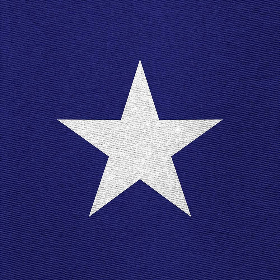 Perfection Floor Tile Custom Print Americana Stars and Stripes - Blue and White Star