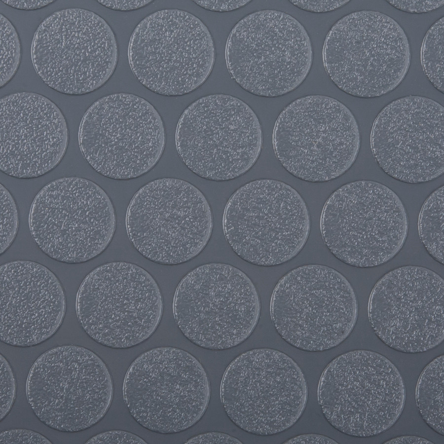 G Floor Roll Out Flooring Small Coin in Slate Grey