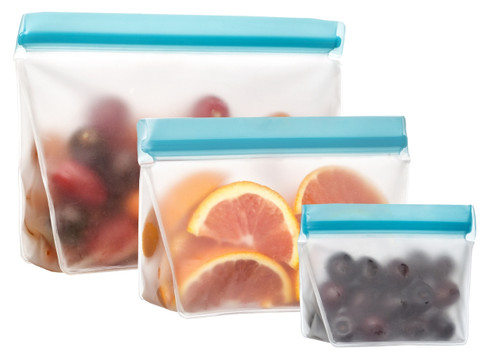 Blueavocado Re Zip Reusable Stand Up Leak Proof Bags 3 Pack