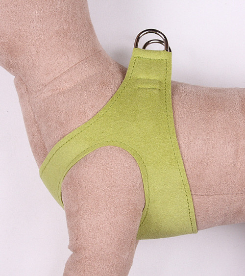 Q111LIMPLN_500__04214.1460903945?c=2 plain ultrasuede pet dog step in harness lime green