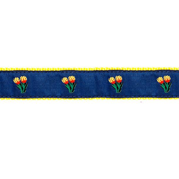 Tulip Blue 1.25 inch Dog Collar& Harnesses