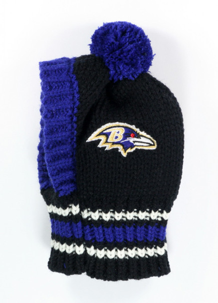 NFL Baltimore Ravens Dog Knit Ski Hat