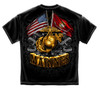 DOUBLE FLAG USMC T-SHIRT