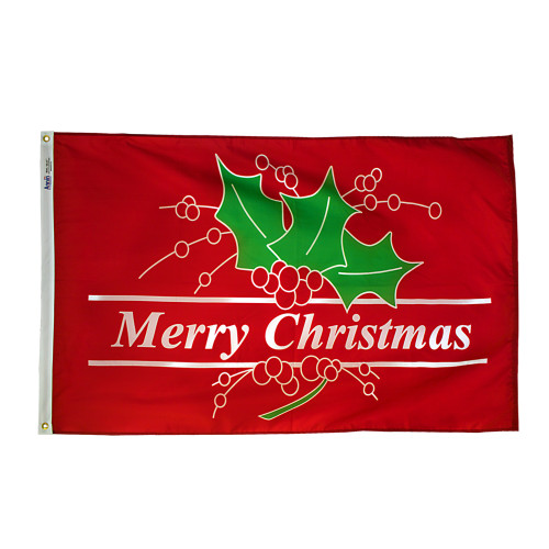 MERRY CHRISTMAS 3X5' NYLON FLAG