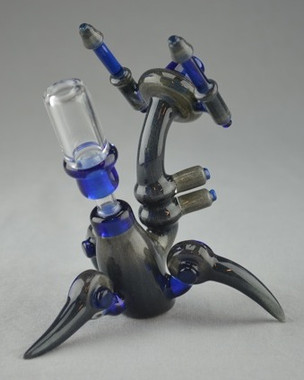 "BANJO - ""Droid"" Vapor Rig w/ 10mm Removable 2-Hole Diffy & Dome"