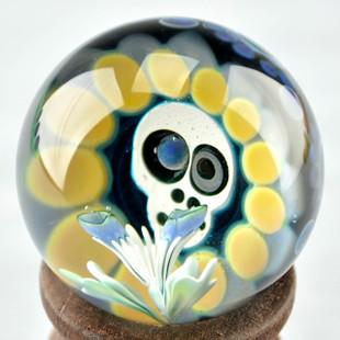 ZARIEL SHORE - Skull w/ Opal Eye and Flower - Dot Stack Backing - #4