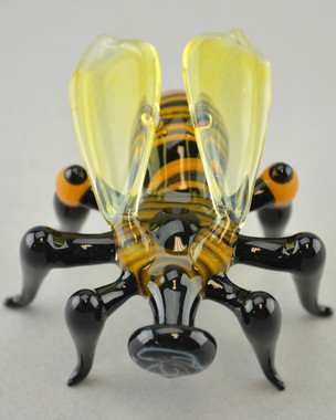 "PHIL SIEGEL - Sculpted Glass ""Bee"" Pendant"