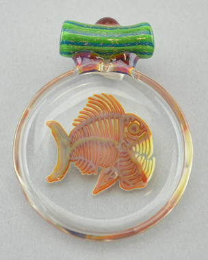 BUCK/DARBY - Piranha Fish Flip Disk Pendant #1 - NOT FOR SALE
