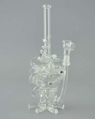 "ORIAN - ""Ventricle"" Vapor Rig w/ 10mm Dome & Opal Mibs"