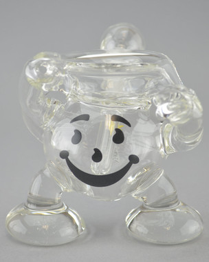 "SILIKA - ""Koolaid Man"" Dab Rig w/ Fixed 14mm Diffused Downstem & Dome"