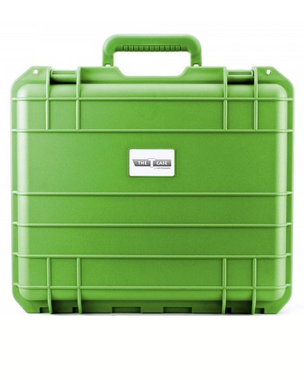 """THE T CASE - 7"""" Waterproof Hard Protective Travel Case - Green"""