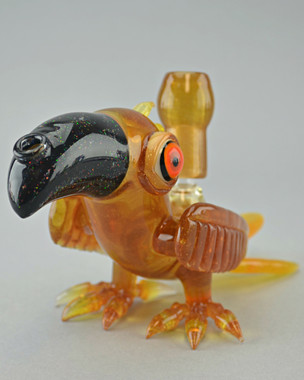 RJ - Macaw Bird Dab Rig w/ 14mm Dome & 2-hole Diffy - #1