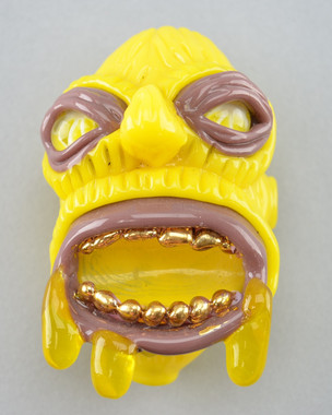 JORDY MINNICK - Dry Hand Pipe Face with Gold Grill - #1