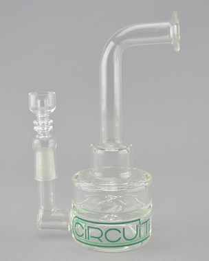 GRAV LABS - Double Circuit Dab Rig w/ 14mm Domeless Quartz Nail (Pick Your Color)